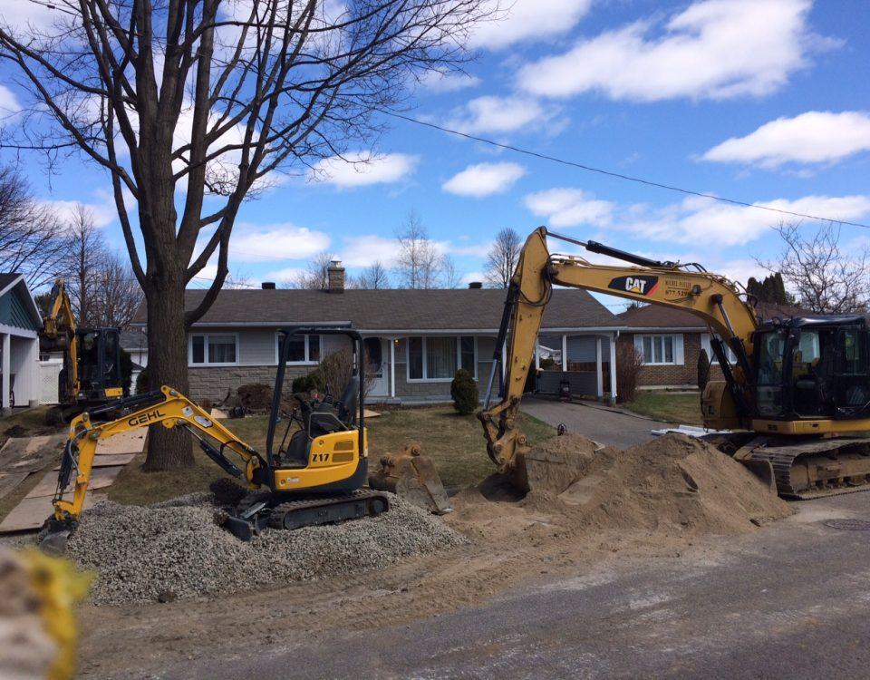 travaux d'asphalte et pavage réalisé par Construction Durab à Québec