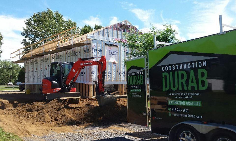 Chantier de construction de maison Construction Durab