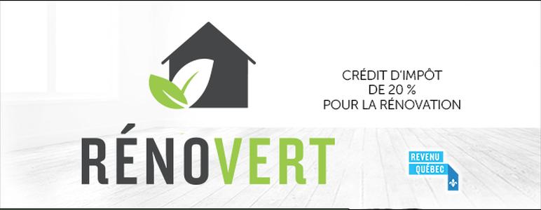 Logo du crédit d'impôt RénoVert