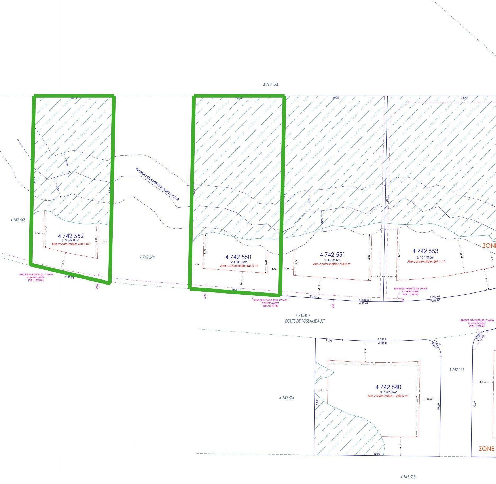 Cadastre (plans) de terrains